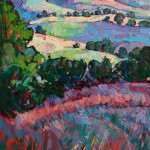 Erin Hanson, Fields of Green, oil, 24 x 36.