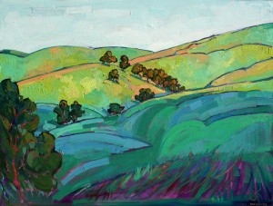 Erin Hanson, Light Over the Hills, oil, 48 x 36.