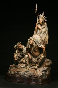 John Coleman, 1804—The Newcomers, bronze, 37 x 24 x 16.