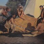 John Fawcett, War Stories, oil, 30 x 40.