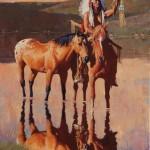 David Mann, The Raised Pipe, oil, 40 x 30.