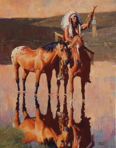 David Mann, The Raised Pipe, oil, 40 x 30.