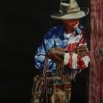 Nelson Boren, Bring It On!, watercolor, 44 x 36.