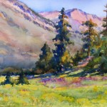 Marsha Owen, Sunflower Fields Forever, watercolor, 10 x 13.