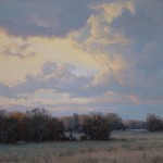 Bruce Peil, Meadowlark Sky, oil, 24 x 30.