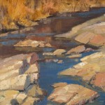 Walter Porter, Sabino Winter Water, oil, 12 x 9.
