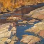 Walter Porter, Sabino Winter Water, oil, 12 x 9.