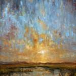 Kevin LePrince, Sky Fall, oil, 30 x 24.