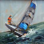 Kevin LePrince, Tilted, oil, 6 x 6.