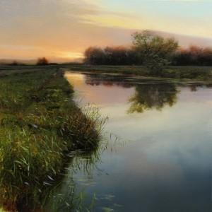 Renato Muccillo, Wedge, oil, 11 x 11.