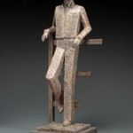 Jeannine Young, Quittin' Time, bronze, 22 x 8 x 9.