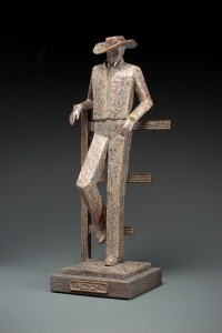 Jeannine Young, Quittin Time, bronze, 22 x 8 x 9.