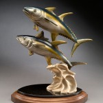 Kim Shaklee, The Daily DoubleYellow Fin Tuna, bronze, 20 x 10 x 15.