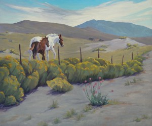 Eva van Rijn, The Fence Line, oil, 30 x 36.