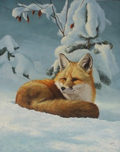 Greg Wilson, Winter Silence, oil, 20 x 16.