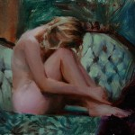 Michelle Dunaway | Resting, oil, 6 x 6.