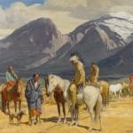 Oscar Berninghaus, Tracks on the Trail, oil, 25 x 30. Estimate: $100,000-$150,000.