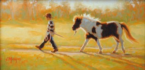 Cecile Morgan, End of the Day, oil, 12 x 24.