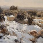 Damien Gonzales | Arroyo del Oso, oil, 9 x 12.