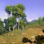 Damien Gonzales | San Juan Aspen, oil, 12 x 16.
