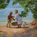 Marilyn Flinn, How to Bait the Hook, oil, 20 x 24.