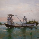 Marilyn Flinn, Returning With the Catch, oil, 20 x 24.