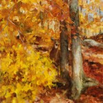 Kathy Anderson | Golden Autumn, oil, 20 x 16.