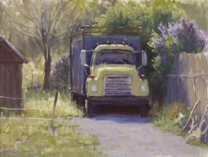 Kathleen Dunphy, Ready to Roll, oil, 12 x 16.