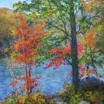 Julia Lesnichy, At the Mountain Lake, oil, 24 x 30.