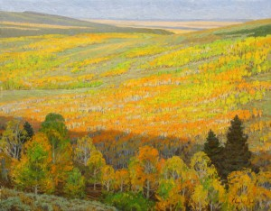 Charles Muench | In a Sea of Autumn, oil, 22 x 28.