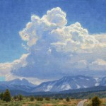 Charles Muench | Sierra Summer Storm, oil, 12 x 12.