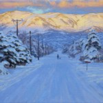 Charles Muench | Winter Tranquility, oil, 16 x 26.