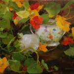 Kathy Anderson | Nasturtium and Sugar, oil, 9 x 10.
