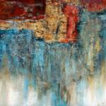 V. Noe, Western Light, mixed media, 48 x 48.
