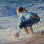 Paul Cheng | Hug the Ocean, oil, 20 x 34.