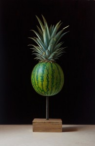 Scott Fraser | Pineapple Imposter, oil, 15 x 22.