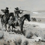 Frederic Remington, The Pack-Horse Men Repelling an Attack by Indians, oil, 27 x 40. Estimate: $500,000-700,000.