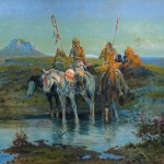 Olaf Seltzer, Far From Camp, oil, 30 x 36. Estimate: $100,000-150,000.