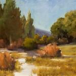 Sandra Pelfrey, High Country Spring, oil, 16 x 20.