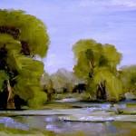 Sandra Pelfrey, Wild Iris Summer, oil, 16 x 20.