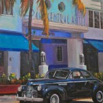 Patricia Sorg, South Beach Nostalgia, oil, 16 x 20.