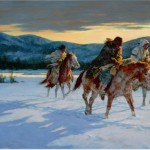 Howard Terpning, Against the Cold Maker, oil, 30 x 46. Estimate: $600,000-900,000.