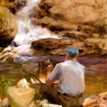 Nancy Guzik, Buttermilk Falls, oil, 12 x 9.