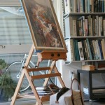 Thomas Schaller's art studio in Venice, CA