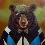 Lucia Heffernan, Papa Bear, oil, 24 x 24.
