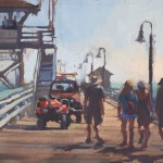Rita Pacheco, Afternoon at the Pier, oil, 8 x 10.