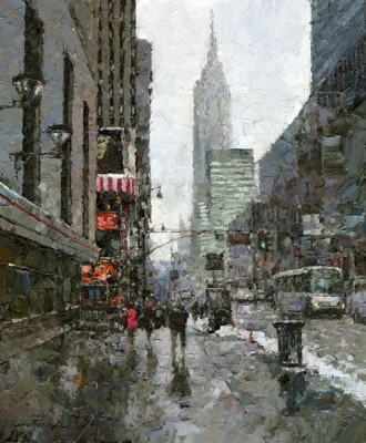 Xiao Song Jiang, 34th Street, oil, 12 x 10.