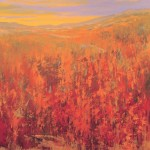 Teruko Wilde, Autumn in Mountain II, oil, 24 x 24.