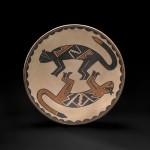 Maria and Julian Martinez, San Ildefonso Polychrome Plate, 13d. Estimate: $30,000-$50,000.