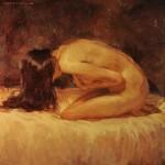 Joseph Lorusso, Bound, oil, 14 x 14.